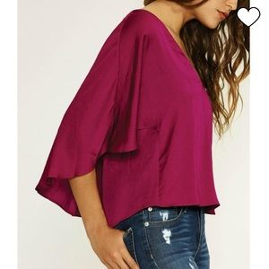Lovers + Friends | Memory Lane Top in Berry